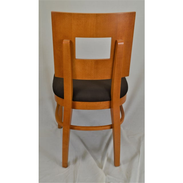 Contemporary Square Back Wooden Dining Chair For Sale In Buffalo - Image 6 of 8