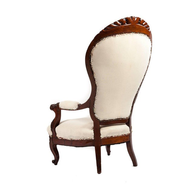 Traditional Unusually Large-Scale Victorian Mahogany Parlour Chair For Sale - Image 3 of 4