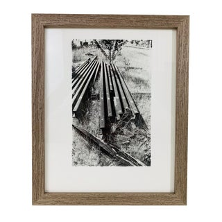 1987 Modern Abstract Black and White Framed Photo by Joseph Buemi For Sale