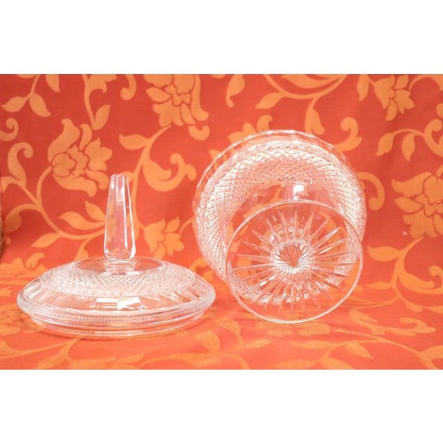 Transparent 20th Century Crystal Centrepiece, 1980s For Sale - Image 8 of 9