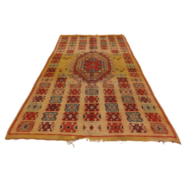 Vintage Berber Moroccan Rug - 5′ × 8′4″ - Image 3 of 3