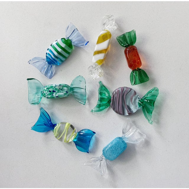 Set of 7 vintage Italian Murano glass candies, circa 1960's in excellent condition. Local Pickups - Items need to be...