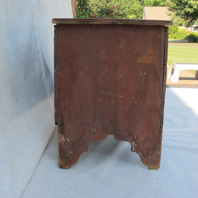 Rustic Original Red Painted Blanket Chest For Sale - Image 3 of 11