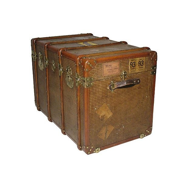 Early 20th Century French Steamer Trunk For Sale - Image 4 of 7