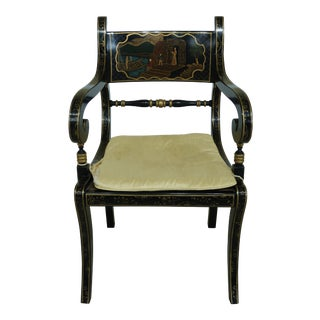 Baker Historic Charleston Collection Chinoiserie Armchair For Sale