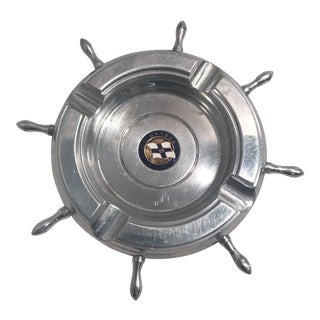 Mid-Century British Souvenir Ship's Wheel Ashtray For Sale