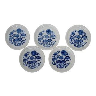 Bavarian Porcelain Coasters, Set of 5 For Sale