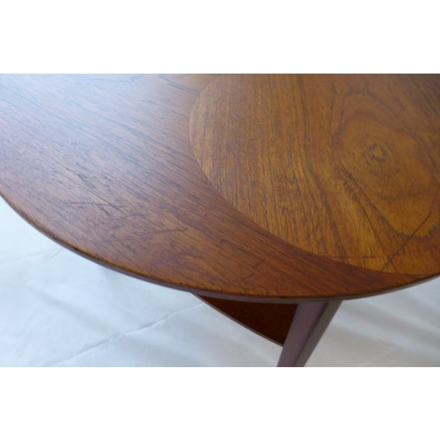 Danish Modern Peter Hdivt Style Side Table - Image 5 of 8