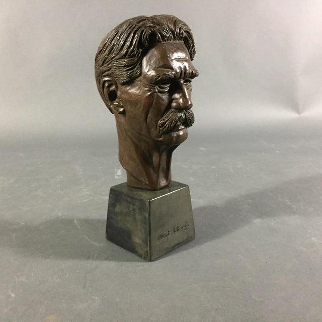 Figurative Bronze Sculpture of Nobel Winner Albert Schweitzer, 1955 For Sale - Image 3 of 10