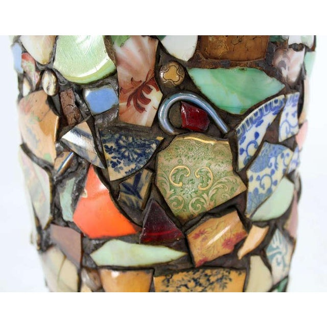 Mosaic Heavy Pottery Cane or Umbrella Stand - Image 6 of 10