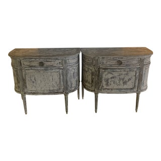 1980s Shabby Chic French Style Demi-Lunes - a Pair For Sale