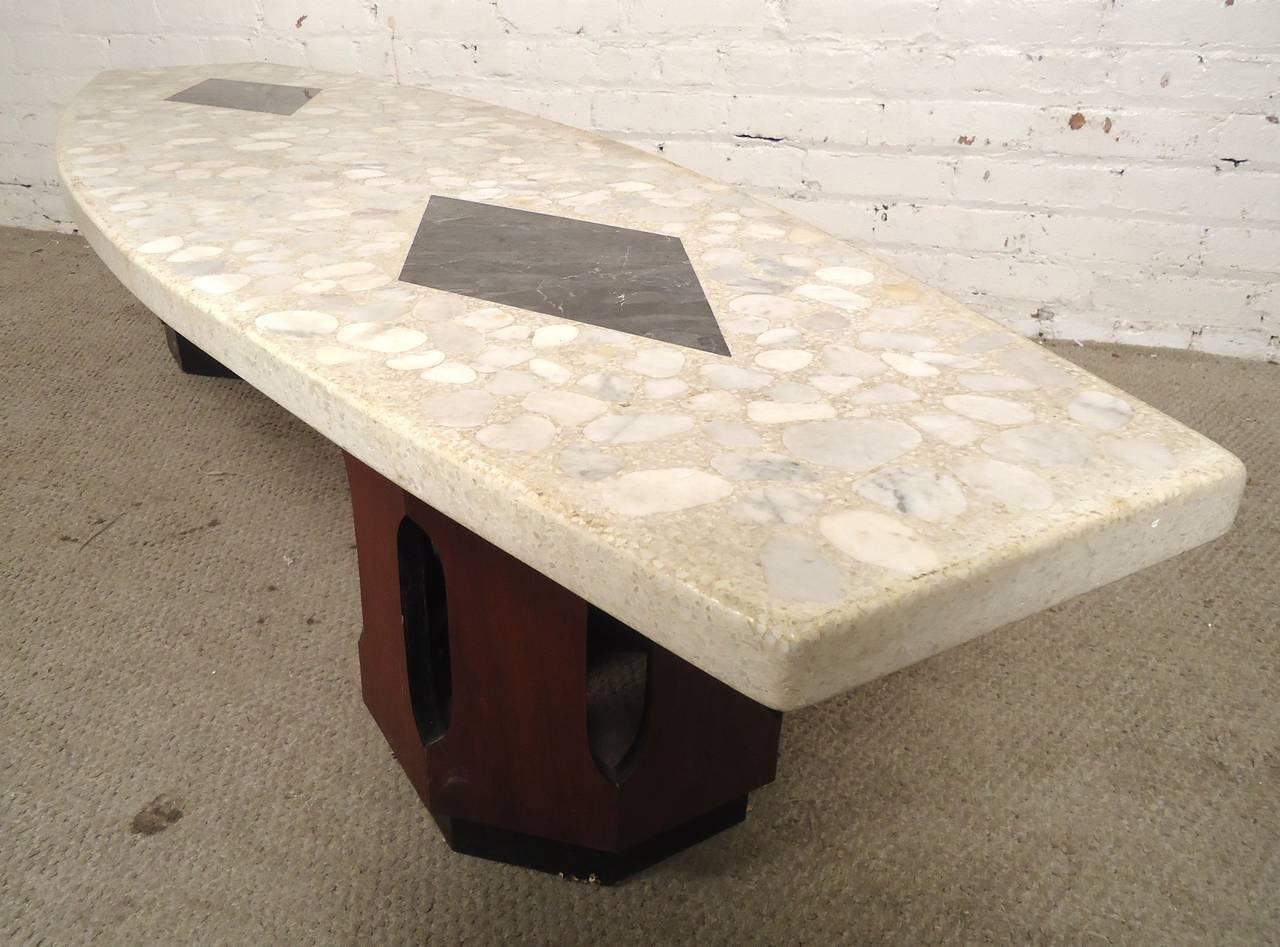 Marble Superb Harvey Probber Terrazzo Top Table For Sale   Image 7 Of 8