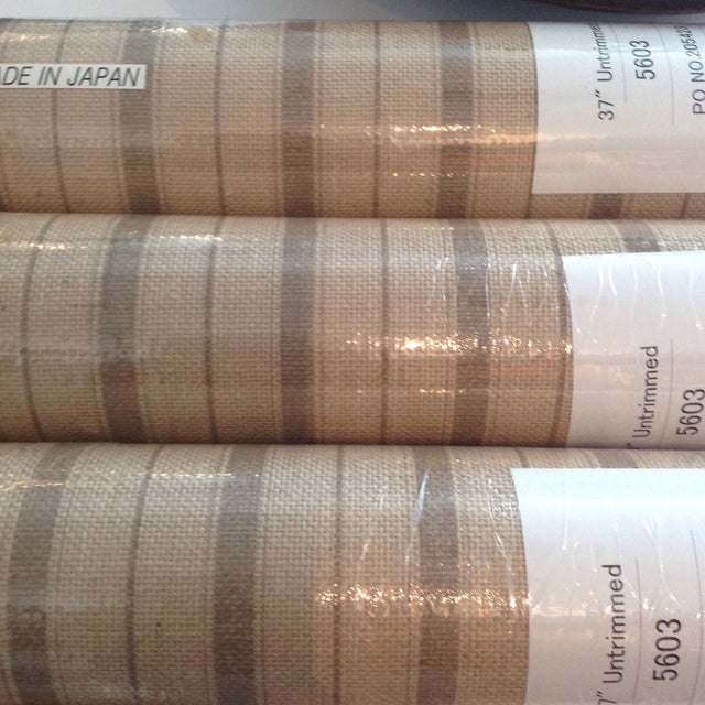 Americana Phillip Jeffries Natural Textured Wall Covering- Sold Individually/ 3 Rolls Available For Sale - Image 3 of 5
