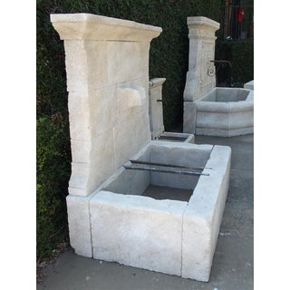 French Limestone Wall Fountain With Carved Stone Spout Preview