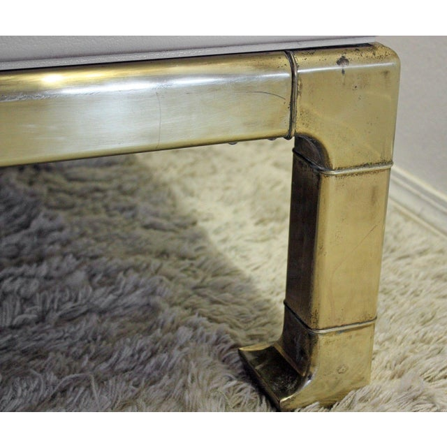 Mastercraft Brass and Lacquered Coffee Table - Image 6 of 8