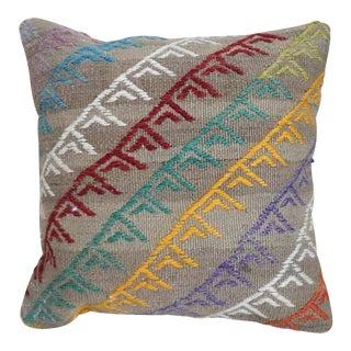 1960s Vintage Turkish Kilim Pillow For Sale