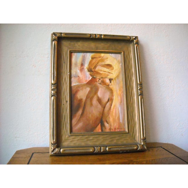 Vintage Oil Painting of a Creole Woman - Image 3 of 6