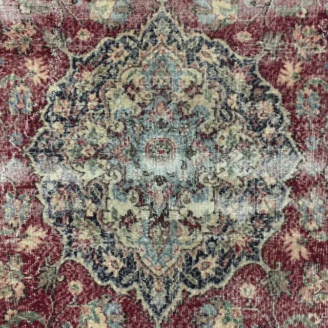 Contemporary Distressed Turkish Carpet   7'1 X 10'8 For Sale - Image 3 of 6