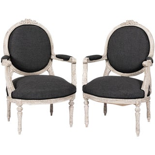 Pair of Gustavian Armchairs For Sale