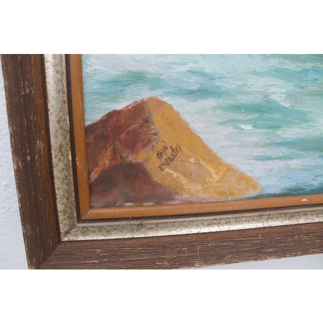 Ocean Scene, Oil Painting by Jean Papenfus For Sale - Image 4 of 11