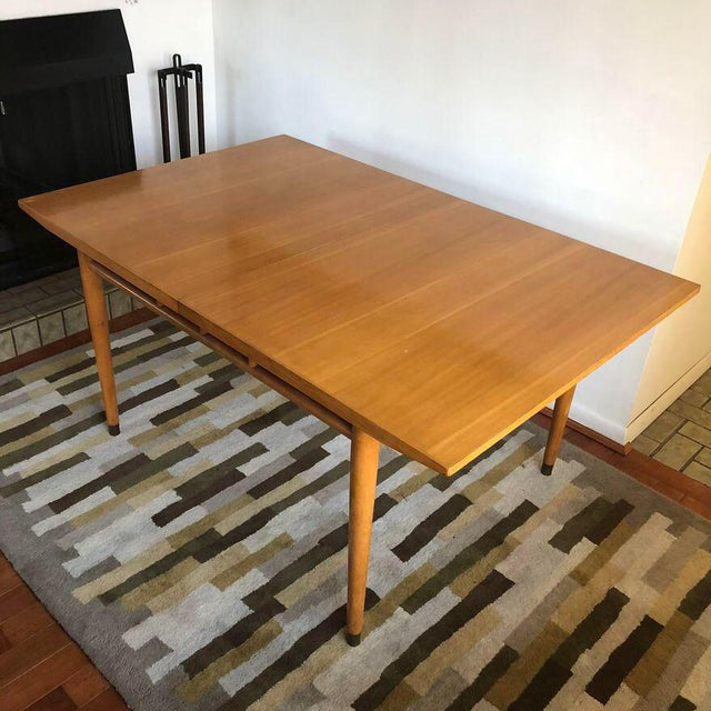 From Drexel's New Today's Living line. Great light wood dining table. Original finish, some wear and tear. Top surface has...