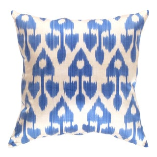 Turkish Hand Woven Silk Ikat Pillow 20'' #Ti 300 For Sale