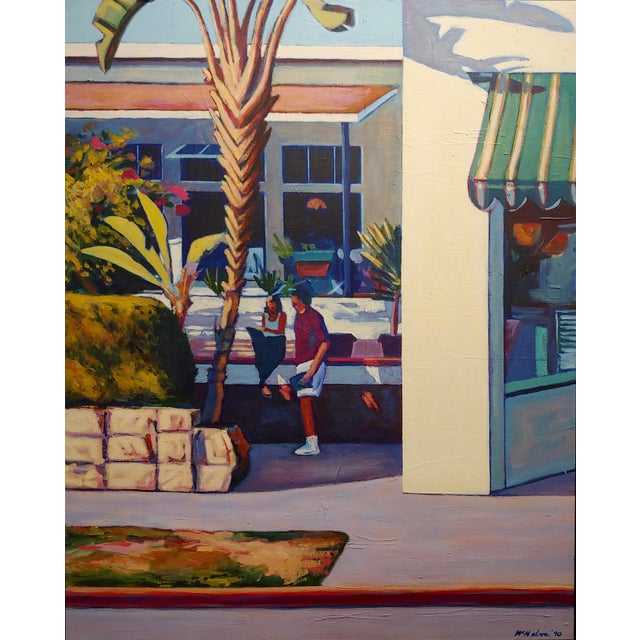 Dennis McNaboe -Santa Barbara Paradise Cafe -Oil Painting For Sale - Image 4 of 8