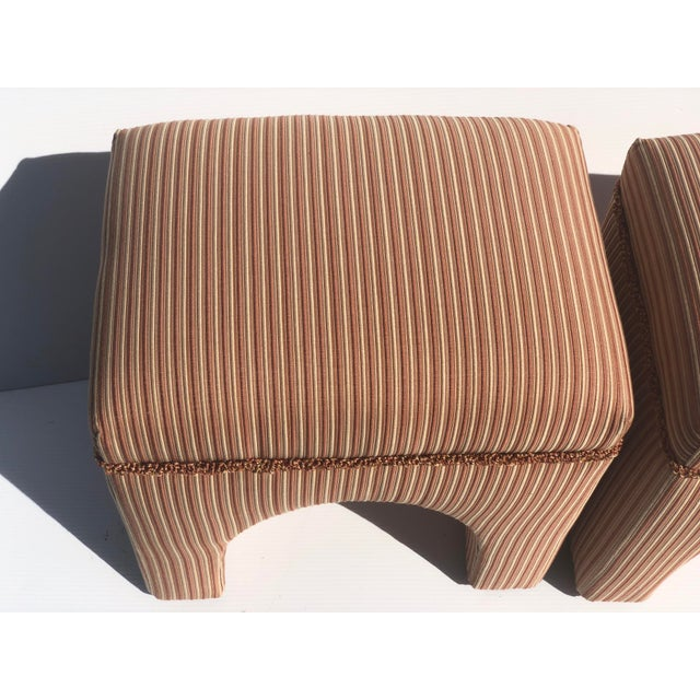 1970s Vintage Waterfall Ottomans- A Pair For Sale In New York - Image 6 of 9