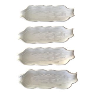 French Porcelain Corn Dish - Set of 4 For Sale