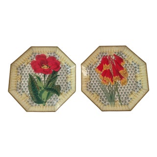 Late 20th Century Decoupage Plates - a Pair For Sale