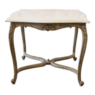 20th Century Marble Top Louis XV Style Side Table