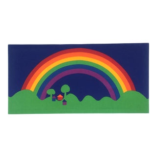 1970s Large Scandinavian Rainbow Wall Art For Sale