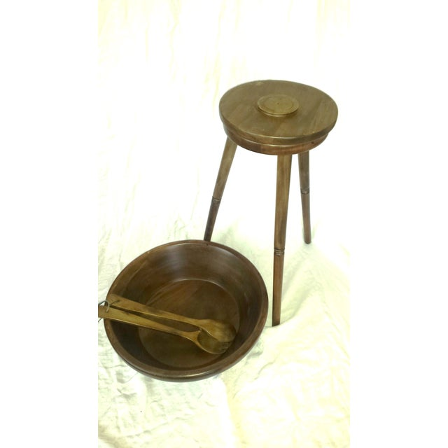 Mid-Century Modern Tripod Salad Bowl For Sale - Image 4 of 7
