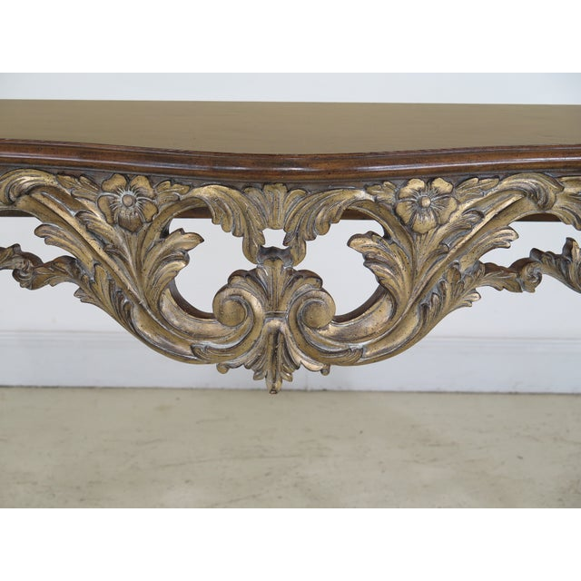 Italian Modern Italian Carved Console Table For Sale - Image 3 of 11