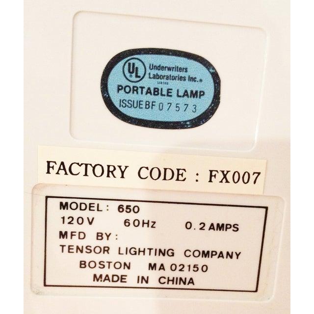 Tensor Moder 650 White Eyeball Lamp For Sale - Image 5 of 5