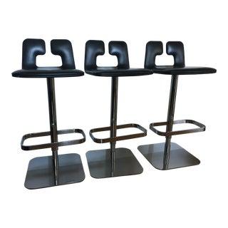 Modern Poltrona Frau Alo Bar Stools - Set of 3 For Sale