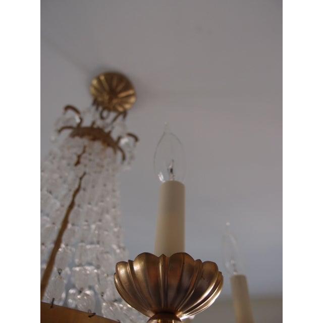 Visual Comfort Brass Chandelier - Image 5 of 7