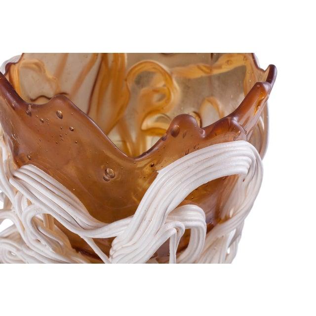 Gaetano Pesce Orange & White Resin Vase For Sale - Image 6 of 9