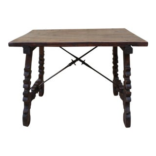 Spanish Carved Walnut Table