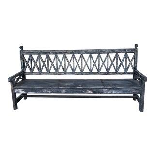 Repurposed Antique Gate Custom Bench For Sale