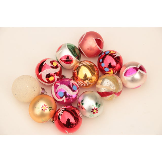 Miniature Blown Glass Christmas Ornaments - Set of 12 For Sale In Madison - Image 6 of 6