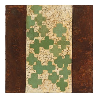"""Lynn Basa, """"Loosely Patterned After: Green Crosses"""" For Sale"""