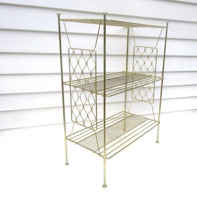 Vintage Metallic Brass Display Shelf - Image 2 of 8