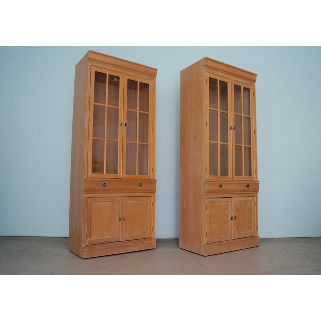 We have a beautiful pair of vintage Hollywood Regency display cabinets for $999 each. They are high-end pieces, and were...