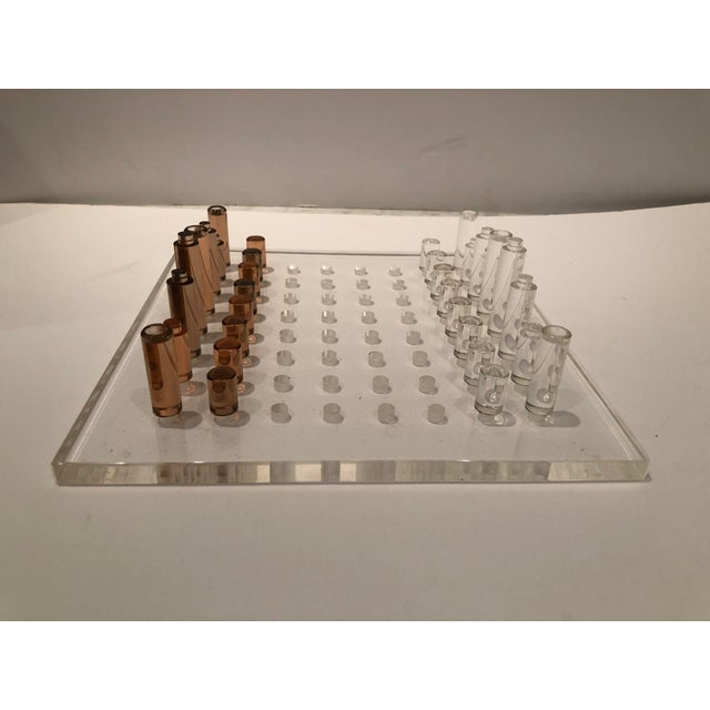 Plastic Mid-Century Lucite Chess Set For Sale - Image 7 of 11