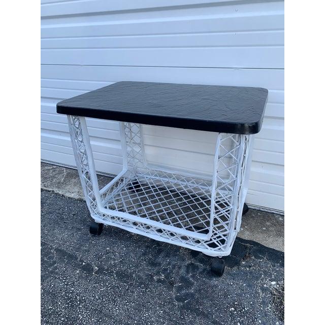 Mid-Century Modern Mid Century Russell Woodard Spun Bar Cart For Sale - Image 3 of 10