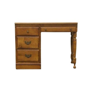 20th Century Traditional Heywood Wakefield Old Colony Maple Writing Desk For Sale