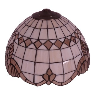 1960s Vintage Tiffany Style Hanging Light For Sale