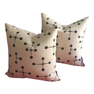 Herman Miller for Eames Maharam Dot Pattern Pillows - a Pair For Sale