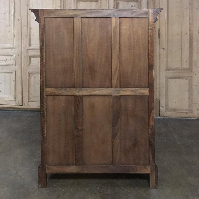 19th Century French Gothic Solid Walnut Armoire ~ Bonnetiere For Sale - Image 12 of 13